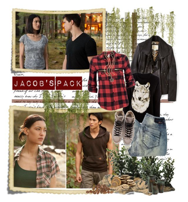 """""""The Pack - Gift set"""" by ladybird-fb ❤ liked on Polyvore featuring Sara Berman, PLANT, Diesel, I Love Leon, Golden Goose, Lanvin, boyfriend jeans, new moon, motorcycle jackets and taylor lautner"""