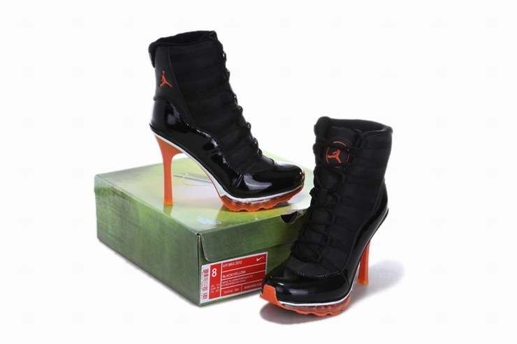 competitive price fce83 64b27 nike air jordan 11 high heels red black for women