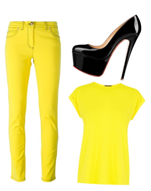 """""""Untitled #3446"""" by ania18018970 on Polyvore featuring Warehouse and Versace"""
