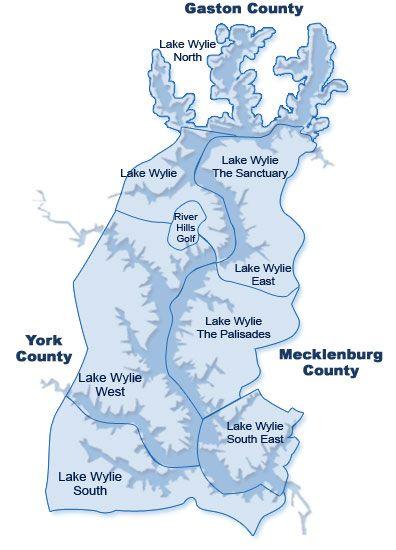 lake wylie | Lake Wylie Area Map | Lake Wylie | West lake