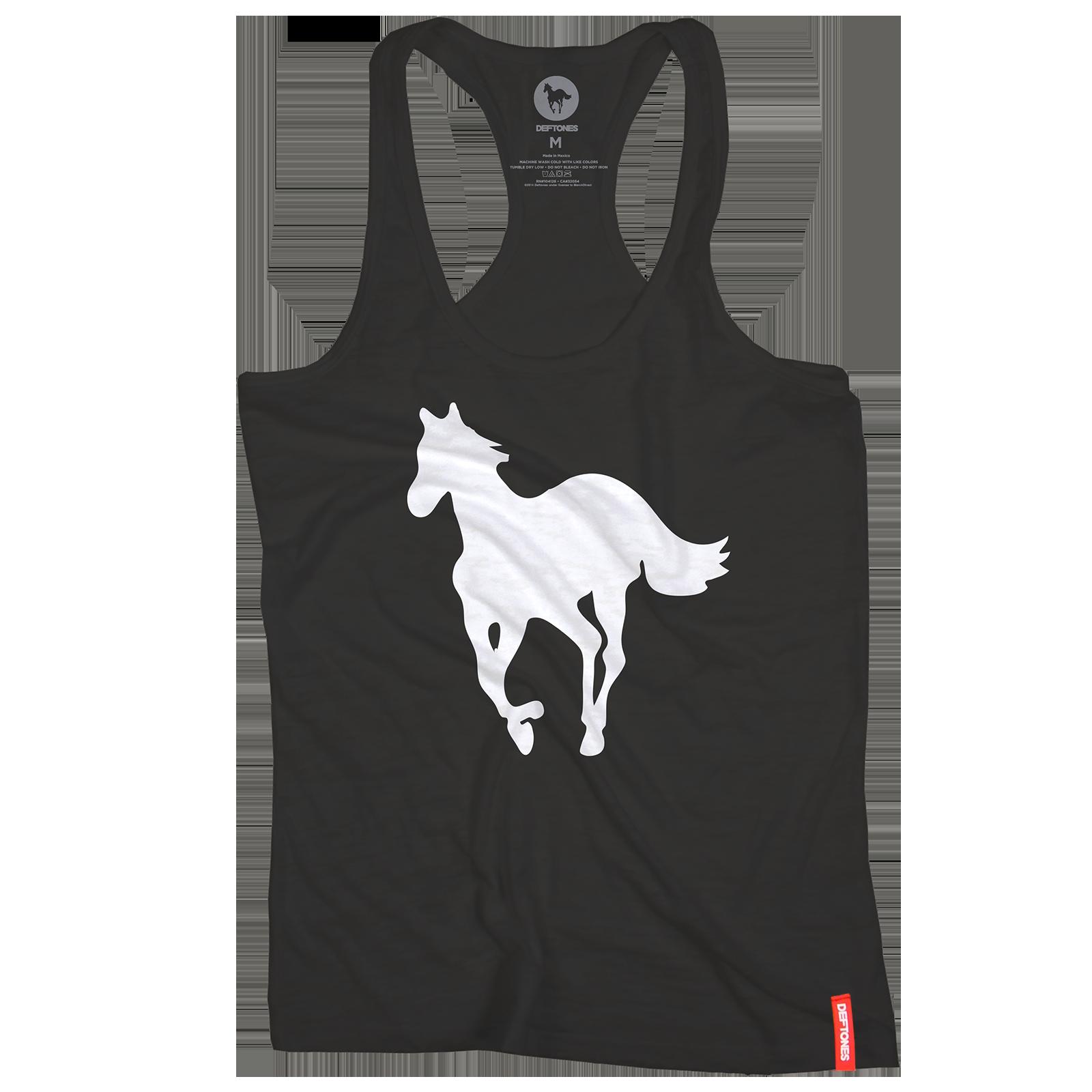 T shirt deftones white pony - Deftones White Pony Racer Back Women S Black Tank Top