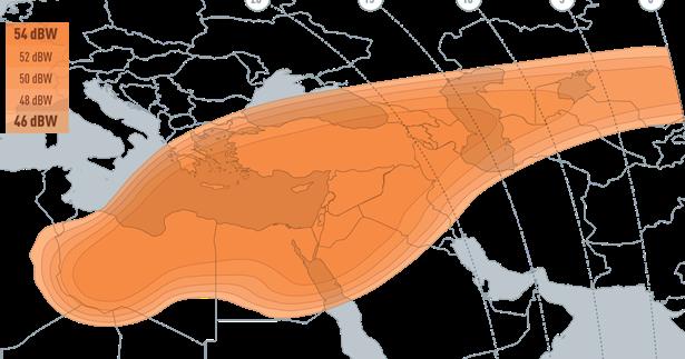 تغطية القمر الصناعي couverture satellite satellite