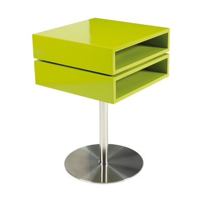 Fun And Quirky Side Table With Two Layers Of Rotating Storage.