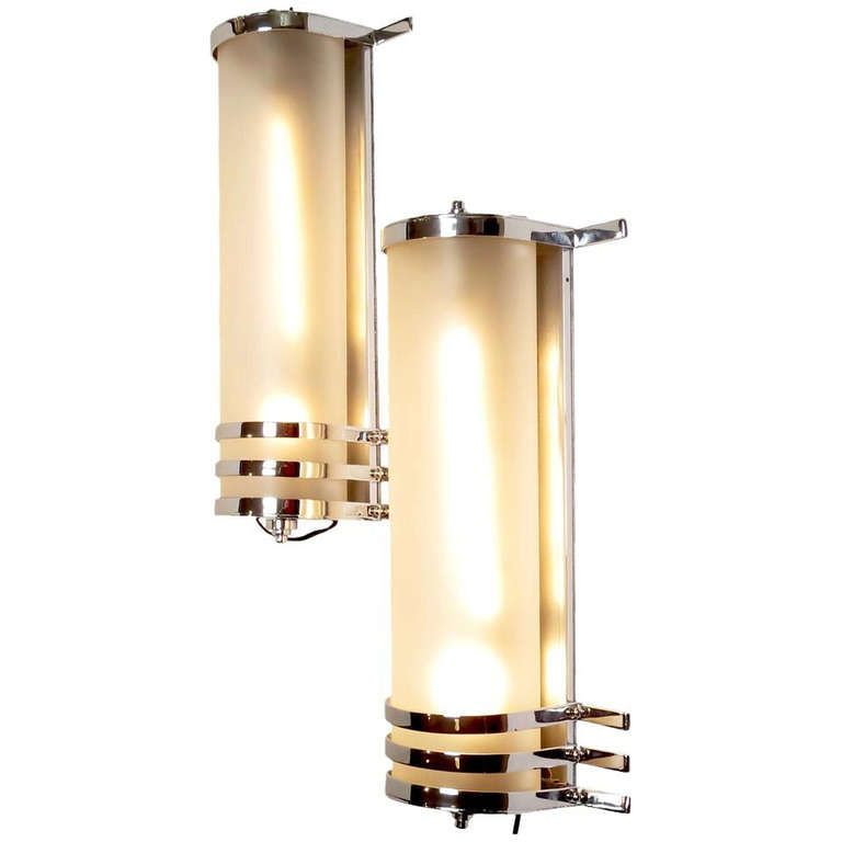 Original 1930\'s Large Art Deco Wall Sconces from MGM Studios   Deco ...