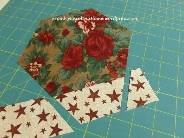 Christmas Hexagonal Table Topper Crafts Quilted Table