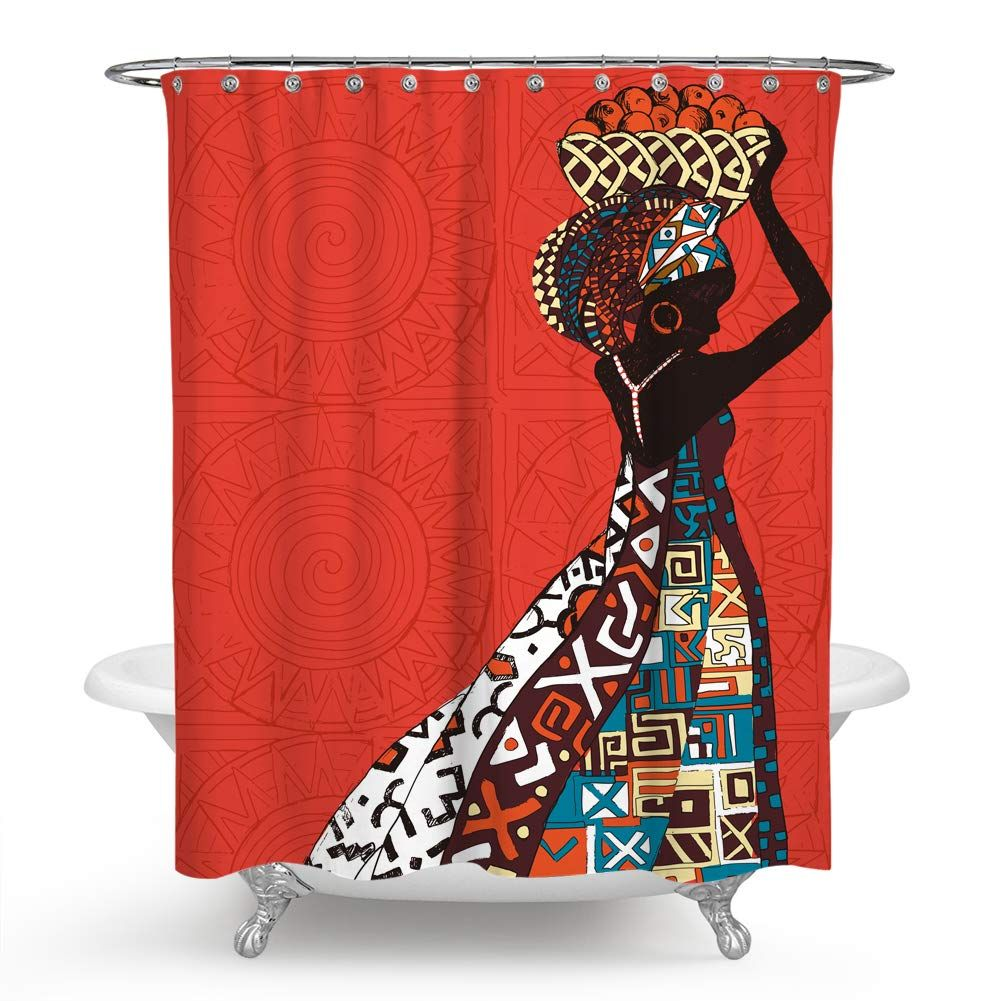 15 99 Chengsan S Afrocentric Shower Curtain Waterproof