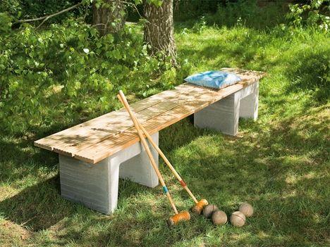 Bank Tisch Oder Hocker Aus Terrassendeck Holzresten Garten Selber Bauen Garten Banke Garten