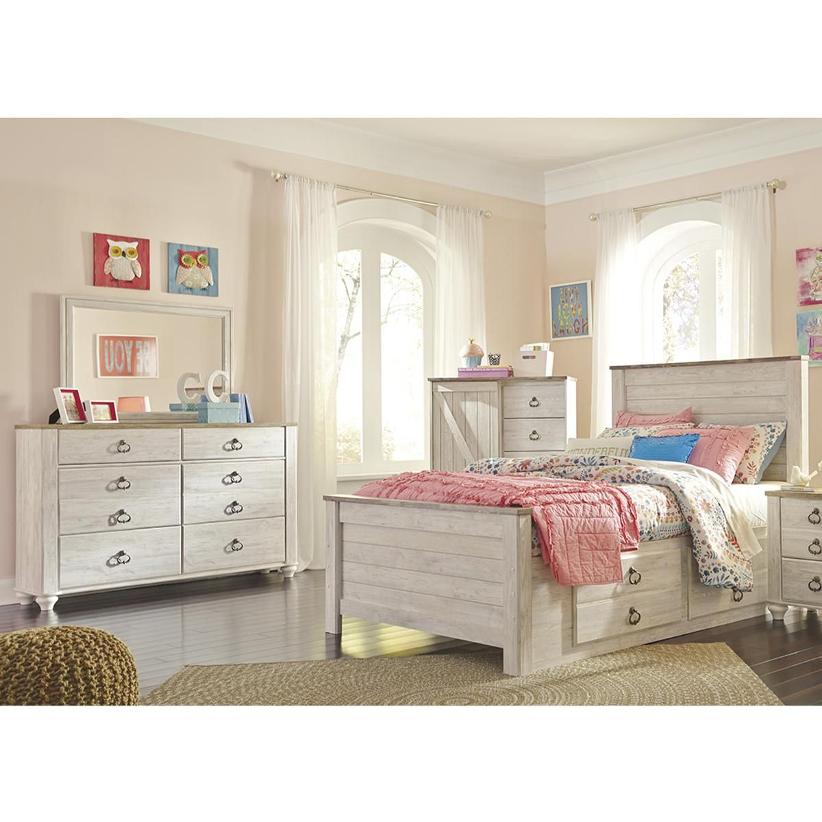 Little Dreamer Willowton 3 Piece Full Bedroom Set In Whitewash Nebraska Furniture Mart In 2020 Twin Bedroom Sets Bedroom Set Ashley Bedroom Furniture Sets