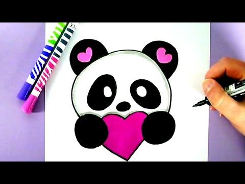 comment dessiner un panda kawaii amour tape par tape youtube abandonn e pinterest. Black Bedroom Furniture Sets. Home Design Ideas