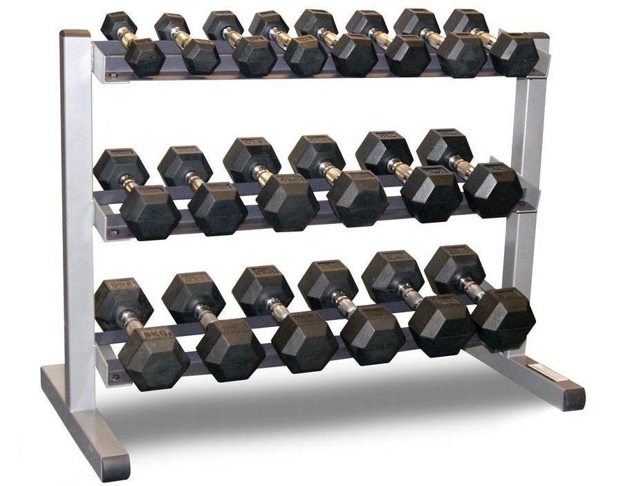 Hex Dumbbells with 3 Tier Rack Rack