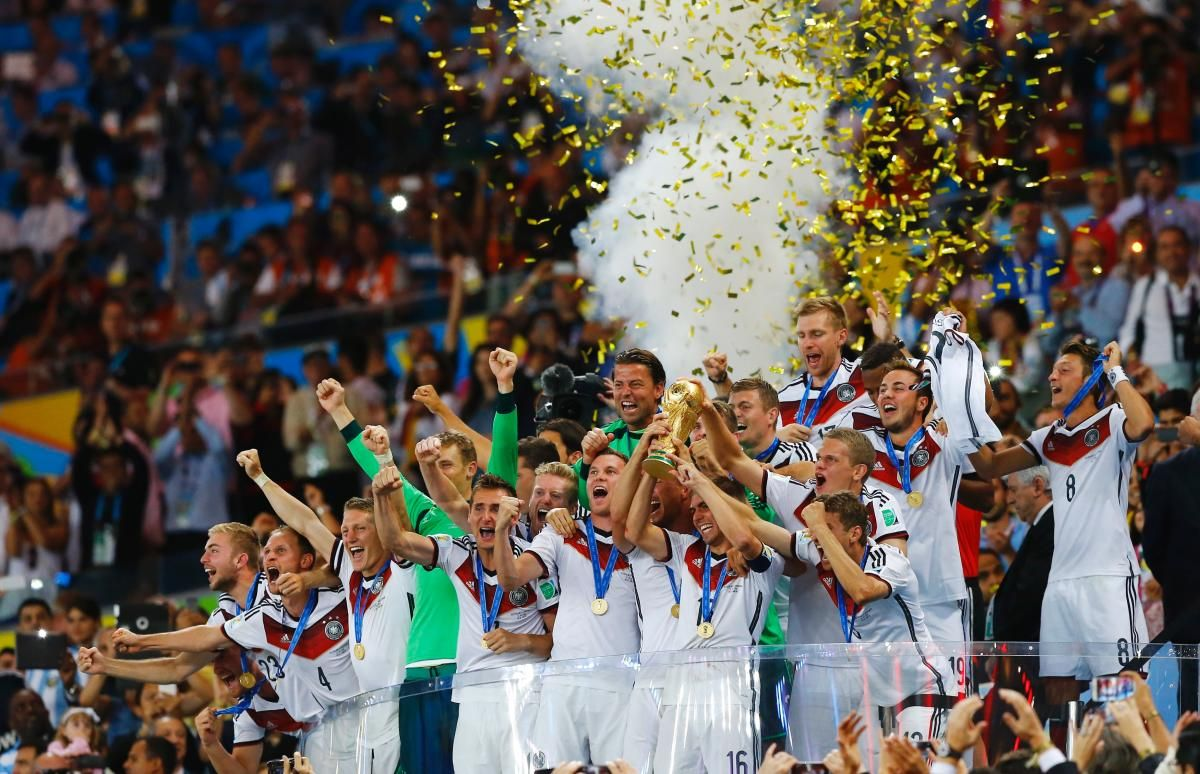 Germany celebrates its first World Cup since 1990 and first as a unified nation.
