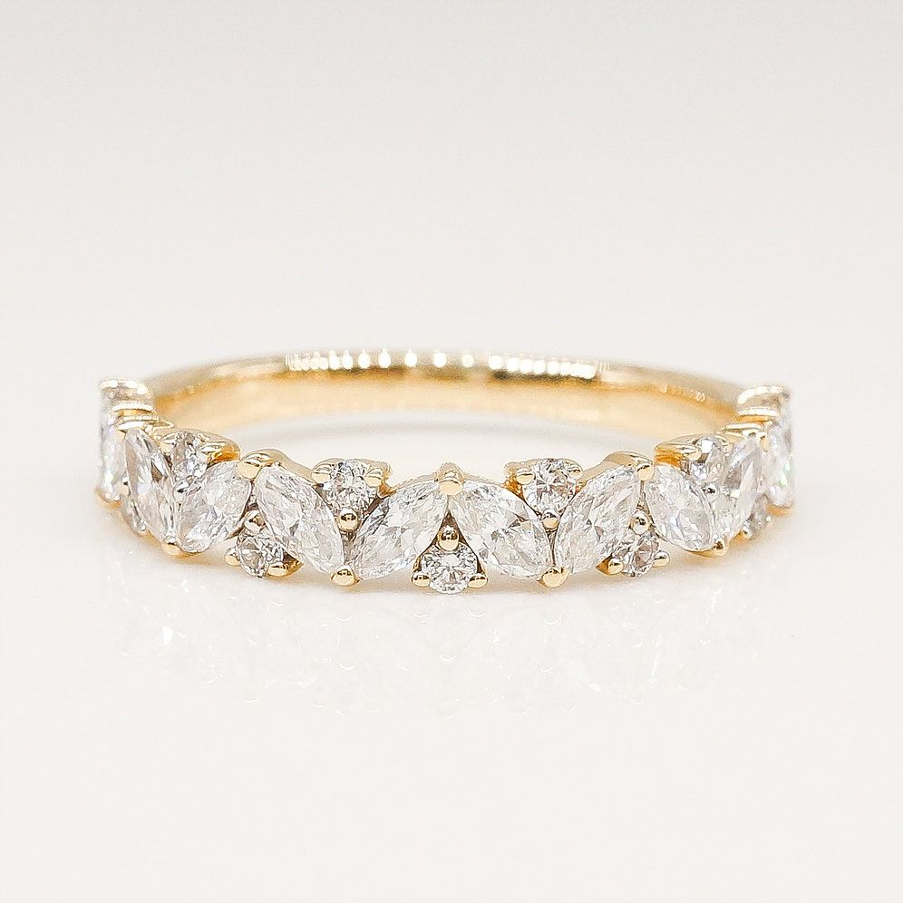 Multi Shape Diamond Wedding Band Diamond Wedding Bands Gold Diamond Wedding Band Gold Wedding Band