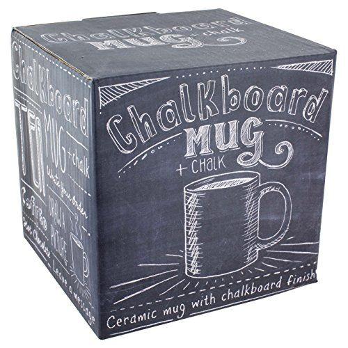 Chalkboard Kaffeebecher - Für Typografie und Tafelkünstler, die  ihrer Lieblingstasse jeden Tag eine neue Botschaft aufsetzen können