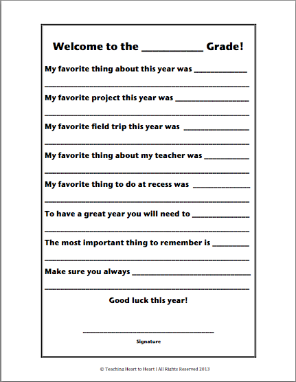 Teaching Heart To Heart It S That Time Of Year Again Student Writing End Of Year Activities Teaching