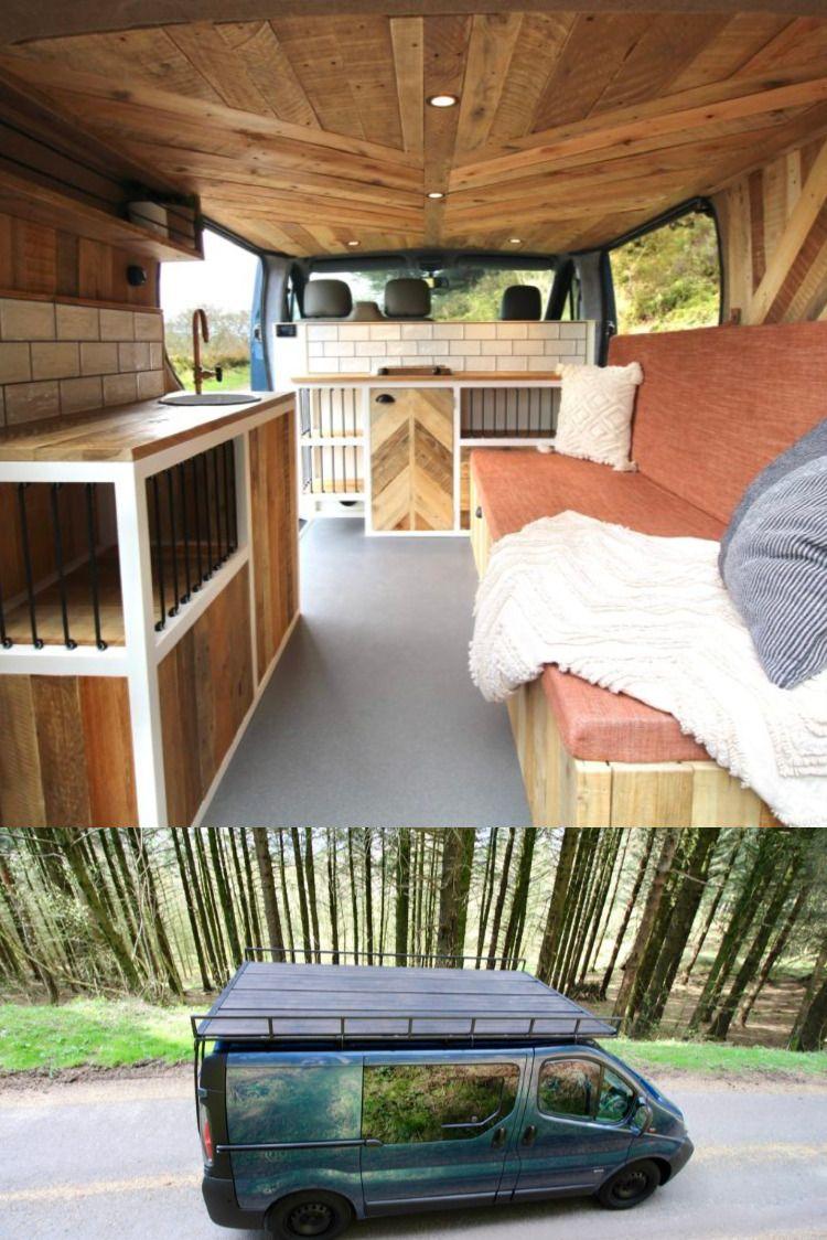 Amazing Swb Vivaro Camper Built With Beautiful Reclaimed Woods Roof Deck In 2020 Van Life Diy Camper Vauxhall Vivaro Camper
