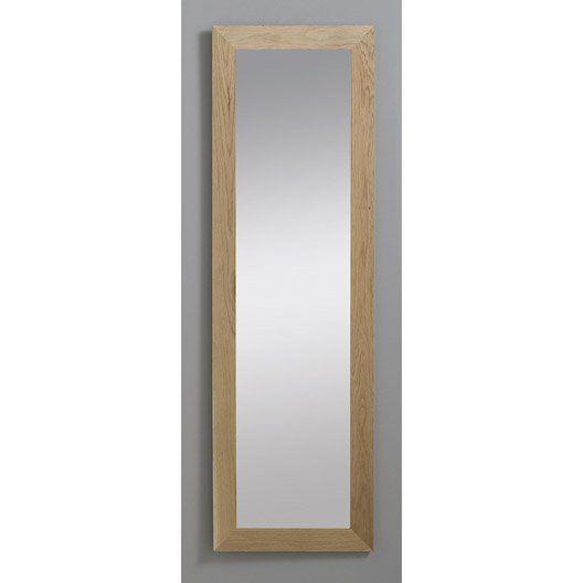 Miroir Nakato Inspire Chene 30x120 Cm Miroir Design Decoupe Verre Miroir