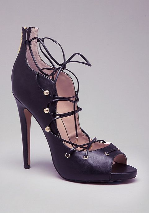 Shoes Post — BeBe Delaney Lace-up Pumps All tied up. Glam...
