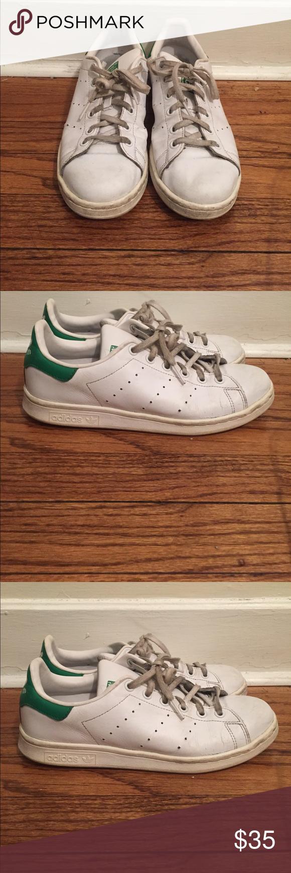 adidas stan smith white & green stan indossato & dimensioni 7