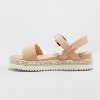 a0af790ee Women s Rianne Espadrille Ankle Strap Sandals - A New Day Blush 9 in ...