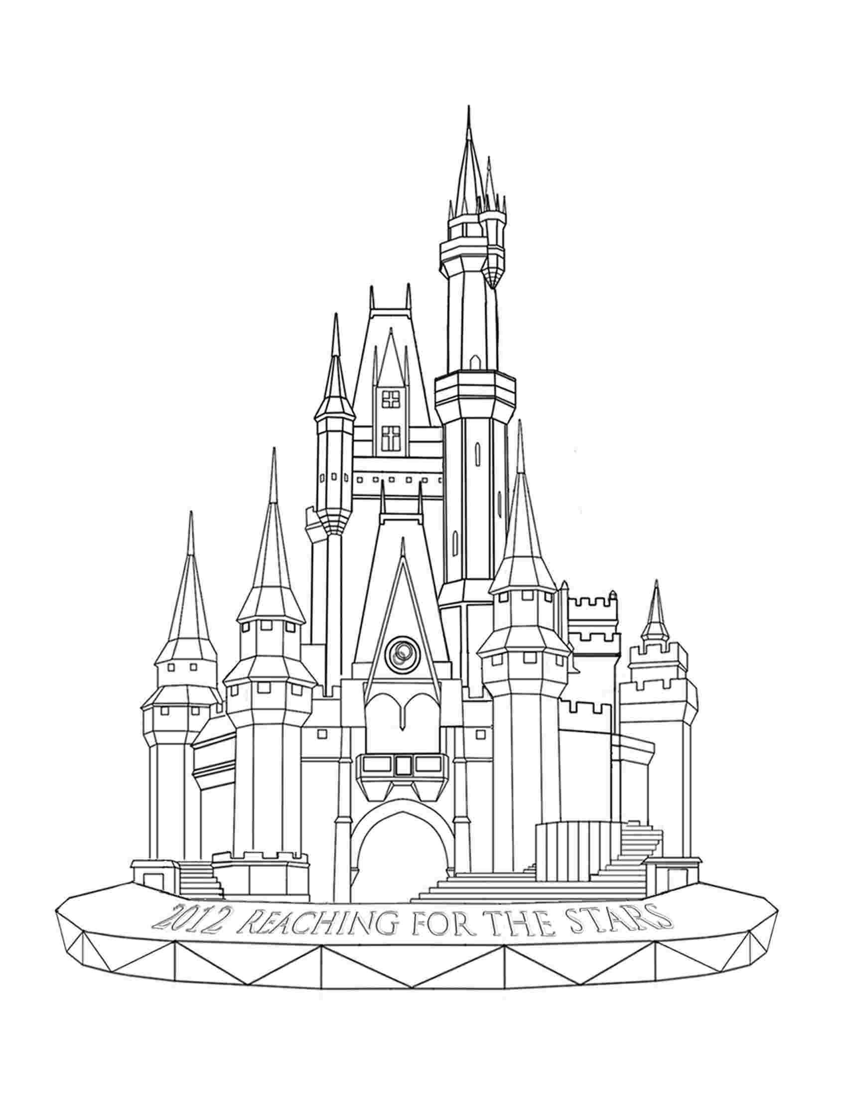 Coloring Pages Magic Kingdom In 2020 Castle Coloring Page Disney Castle Drawing Castle Painting