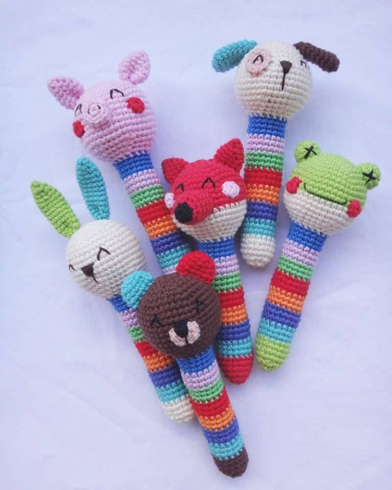 Crochet animal rattles free pattern | Amigurumi | Pinterest ...