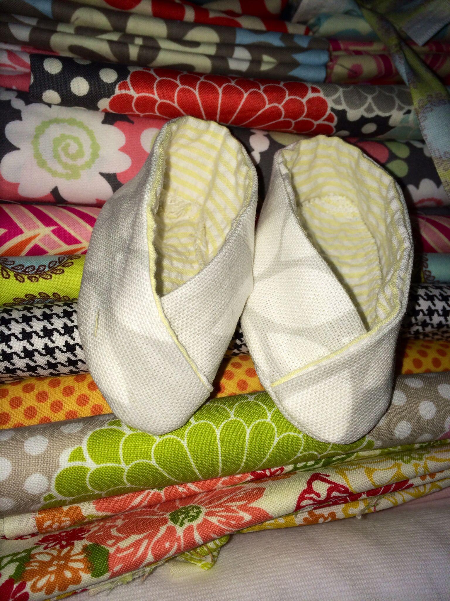 Kimono baby shoes by Sylvia Carroll designs