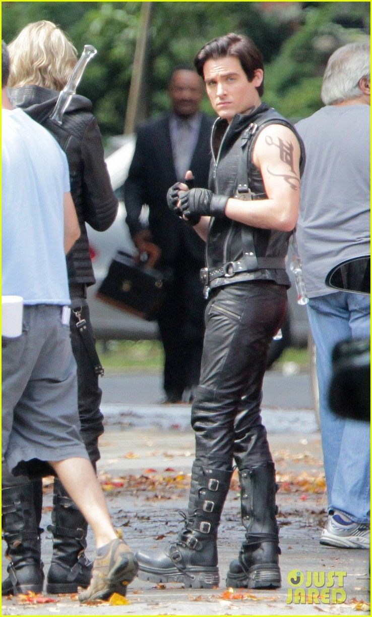 """Kevin Zegers as Alec Lightwood on the set of """"The Mortal Instruments: City of Bones"""" movie"""