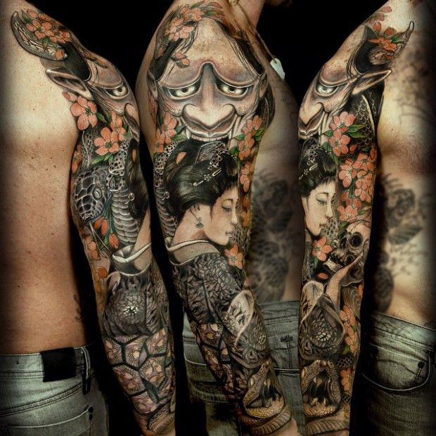 25 full sleeve tattoo ideas you 39 ll love forever sleeve for Forever young in japanese tattoo