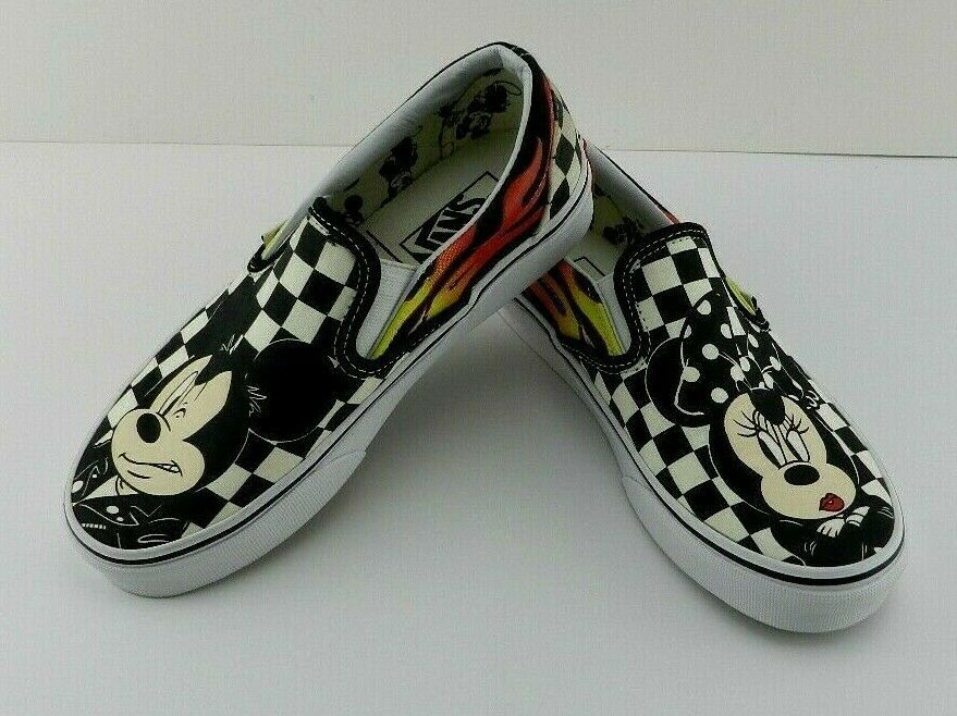 VANS Limited Edition Disney Classic Black White Check Size 4 Mickey Mini  Slip on  VANS d5ef992c5