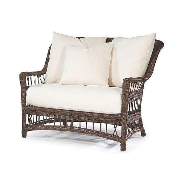 Lane Venture Bar Harbor Cuddle Chair Outdoor Club Chairs ...