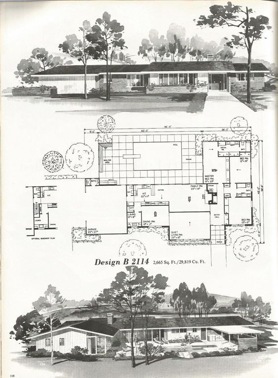 These are beautiful vintage house plans that are efficient ...