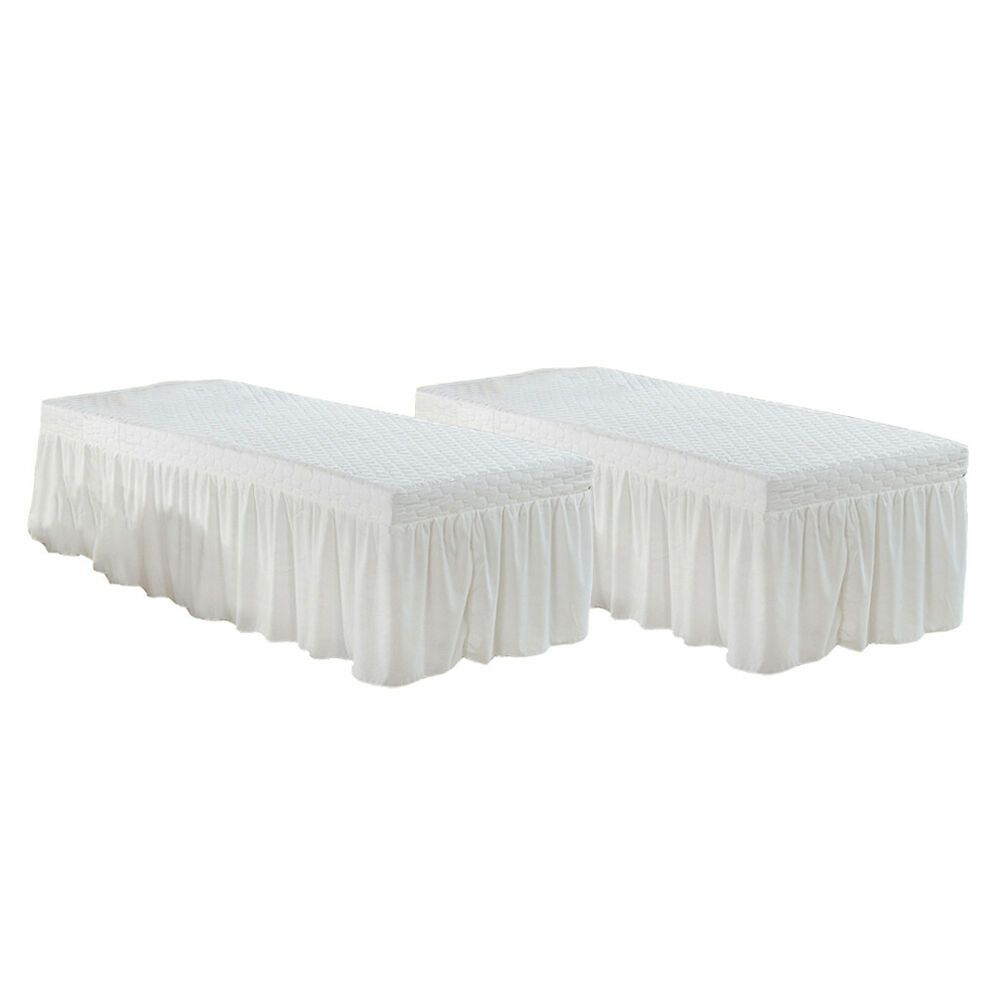 Ebay Sponsored 2pcs Massage Spa Table Skirt Cosmetic Bed Valance