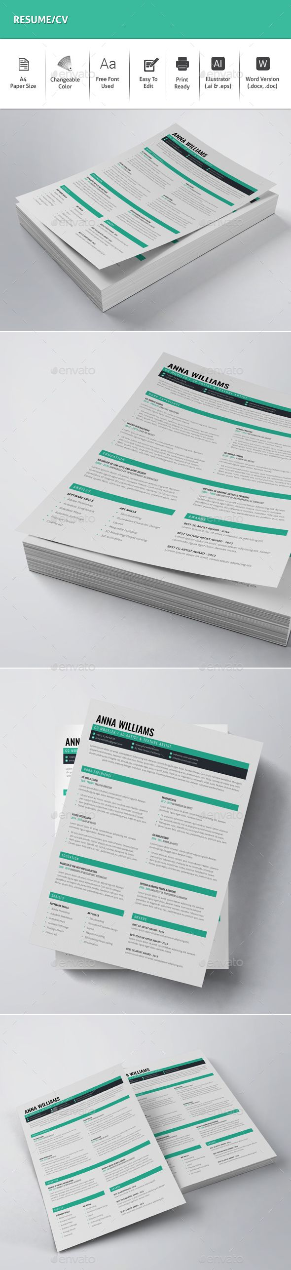 Pin by best Graphic Design on Resume Templates Invoice