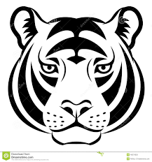 Image Result For Tiger Face Clipart Black And White Tiger Face Tiger Vector Tiger Silhouette