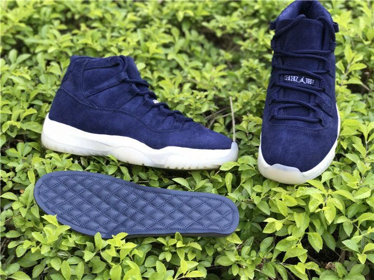 low priced 52d86 16abf Derek Jeter Air Jordan 11 Navy Suede