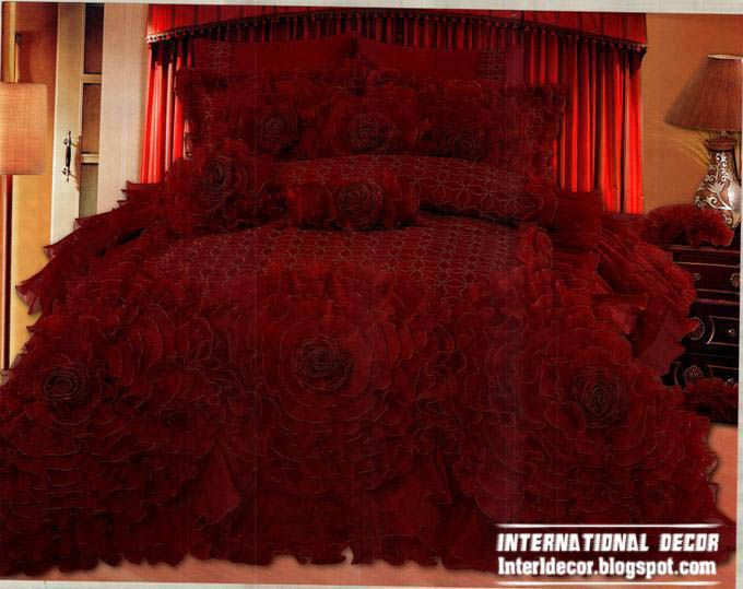 Royal red bedspreads luxurious models 2014  burgundy bedspreads and bedding  sets. Royal red bedspreads luxurious models 2014  burgundy bedspreads