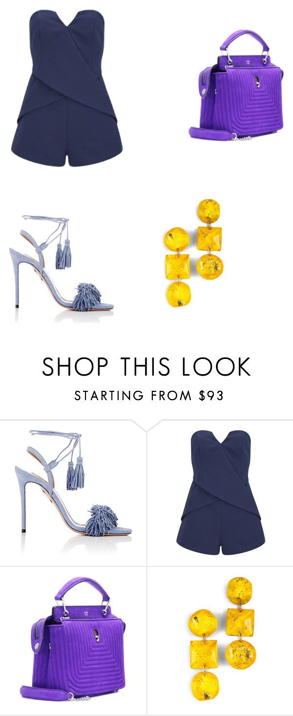 """Colours"" by jzsharar ❤ liked on Polyvore featuring Aquazzura, Finders Keepers and Fendi"