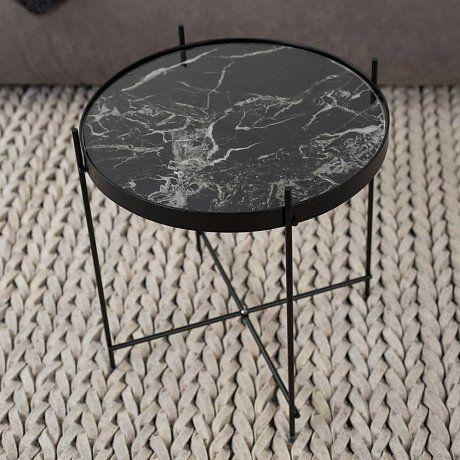 Zuiver Beistelltisch Marmor Amor Schwarz Metall Schwarz O43x45cm Marmortisch Couchtisch Marmor Ideen Furs Zimmer