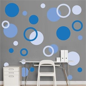 Superieur Where Were These When I Was Painting Circles On Walls. This Is Gonna Be  Sweet In The Apartment. Fathead Blue Polka Dots $59.99
