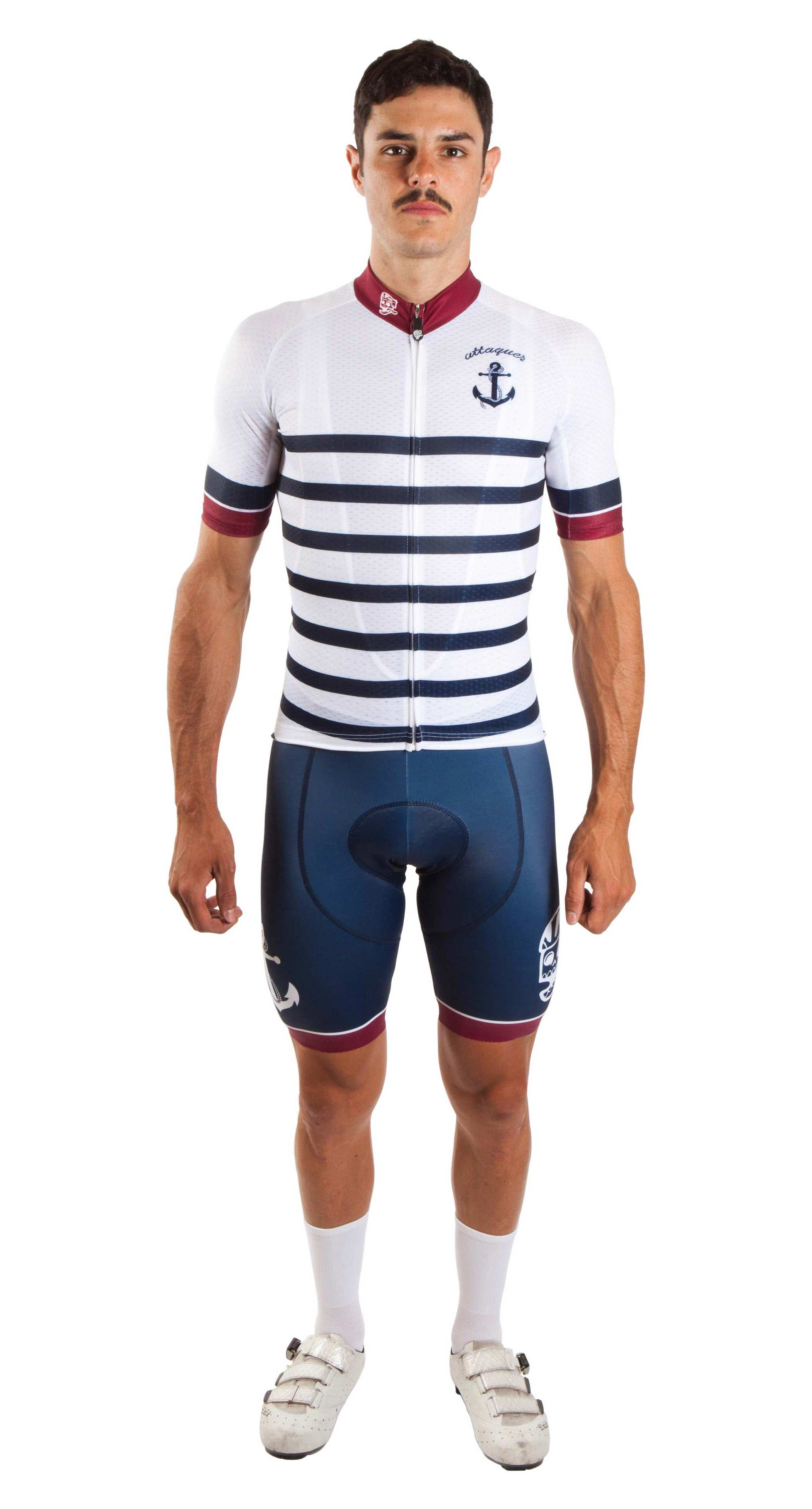 865e316d9 Nautical Anchors and Skulls by Attaquer buy online cool fashionable cycling  kit fuckyeah free shipping