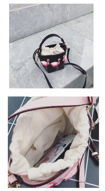 e15a100b49a Brand Fashion Show Bag Women Bags PU Leaather Female Flamingo Bucket ...