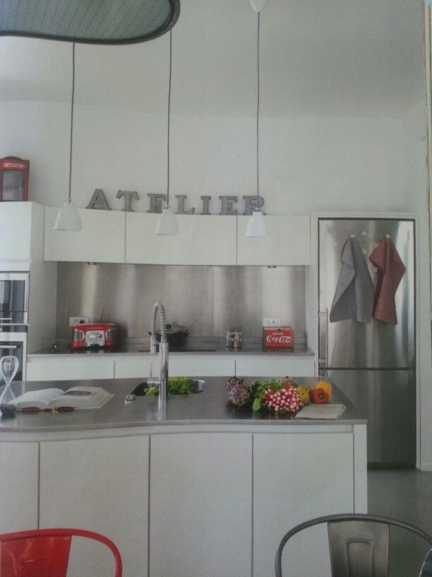 cuisine blanc/inox