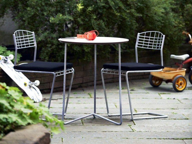 Cantilever Wire Mesh Garden Chair HIGH TECH   Garden Chair By Grythyttan