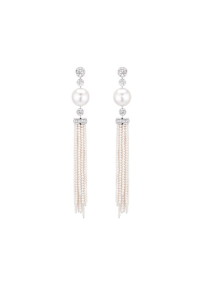 b42b045807 Chanel earrings with pearls and diamonds Cascade de Perles, Mademoiselle  subcollections Orecchini Con Nappe,