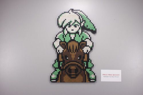 Perler and Artkal fuse bead Link and Epona by Manic Made Geekery