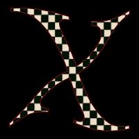 "GRANNY ENCHANTED'S BLOG: ""Black Checks"" Free Digital Scrapbook Alphabet -Single Letters"