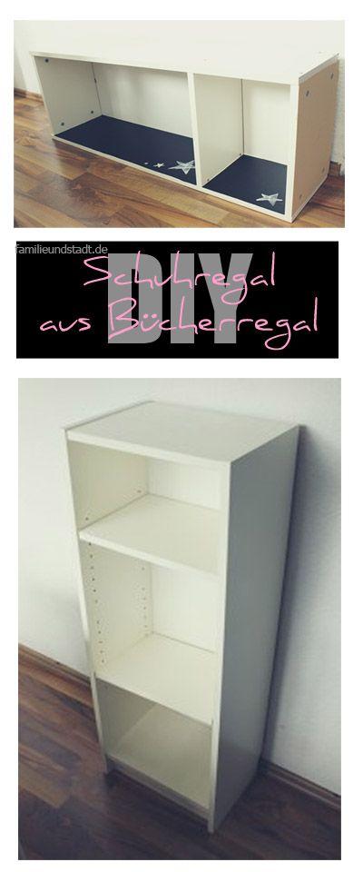 DIY - Schuhregal aus Bücherregal