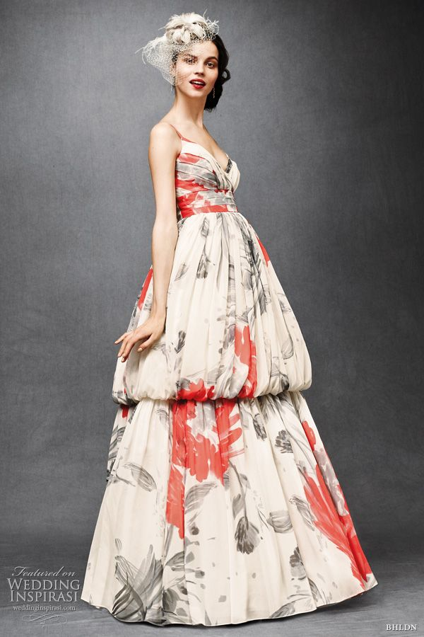 7995ed2e6d bhldn anthropologie wedding dresses 2011 - printed floral Zinnia gown Beth  Bowley   http