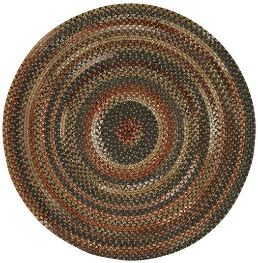 Manchester Round Rug Made In The Usa With A Blend Of 50