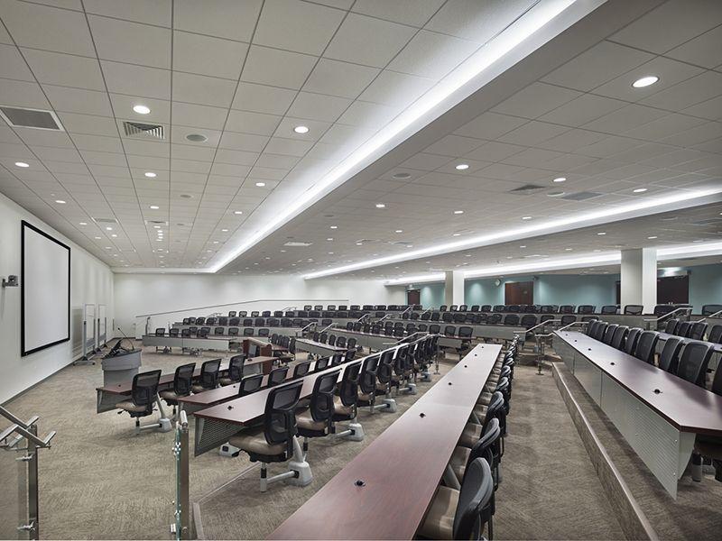 Hofstra university interim medical college lighting design